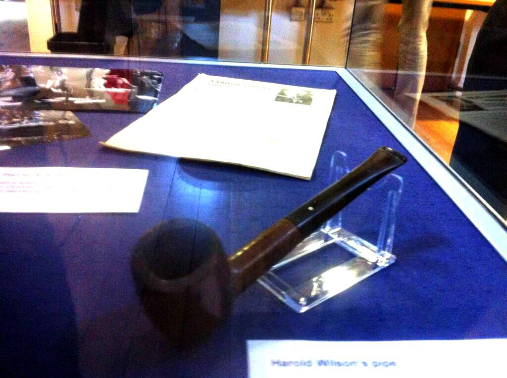 Harold Wilson's pipe at the People's History Museum