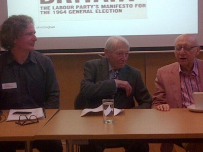 Prof Steven Fielding with Geoffrey Goodman and Sir Gerald Kaufman