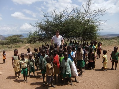 School children in Samburu East district near the town of Wamba