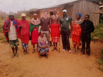 Elders, women, and Morans in the small village of Lorroki