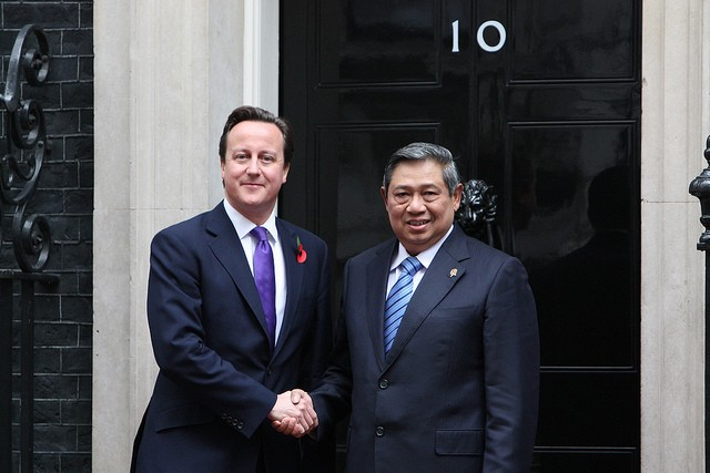 David Cameron meeting Indonesian President Yudhoyono. Image credit: CC by DFID/Flickr