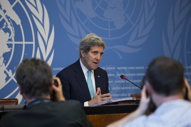 Secretary of State John Kerry . Image credit: CC by US Mission to UN/Flickr