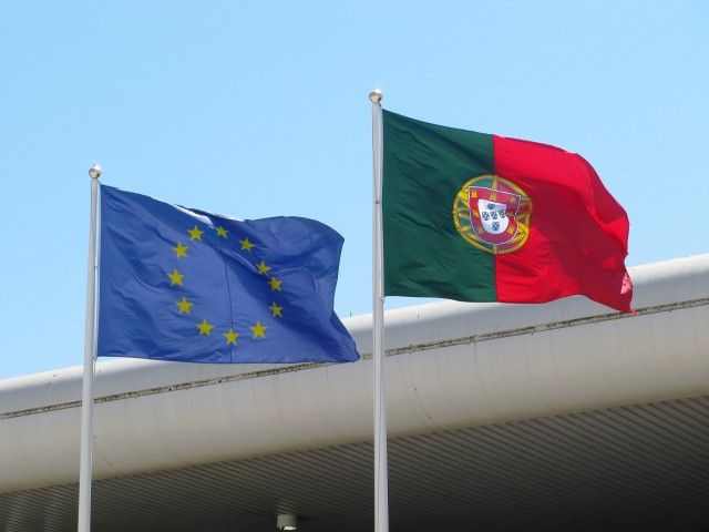The flags of the European Union and Portugal. Image credit: CC by Metropolico/Flickr
